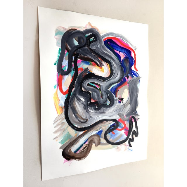 Original, one of a kind painting by Jessalin Beutler completed in 2018. Acrylic on watercolor paper. Signed and dated, not...