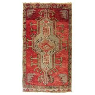 """Vintage Turkish Red Rug-1'11'x3'4"""" For Sale"""