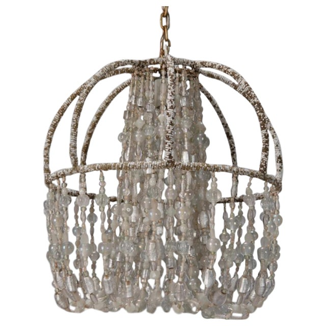 Circa 1900 Unusual All Beaded French Fixture - Image 1 of 5