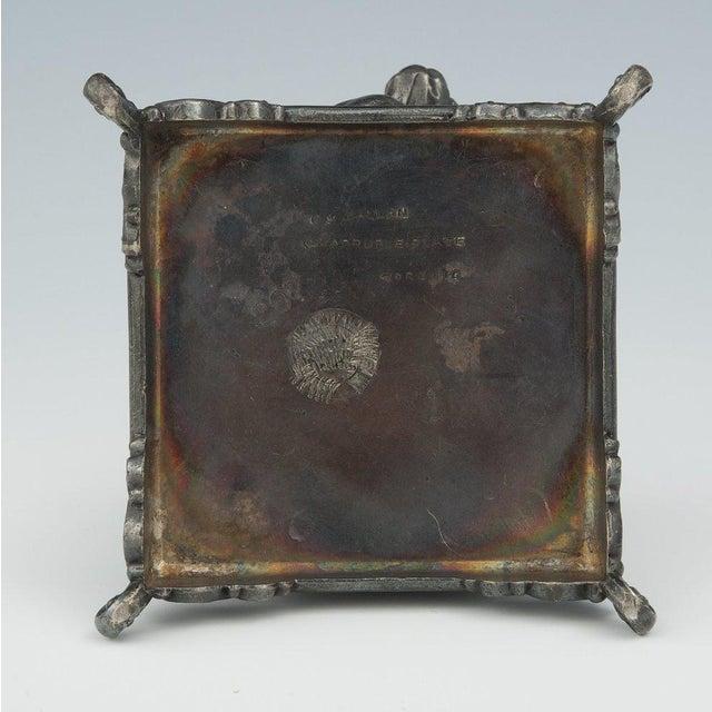 Victorian Figural Quadruple Silver-Plated Bulldog Napkin Holder For Sale - Image 4 of 6