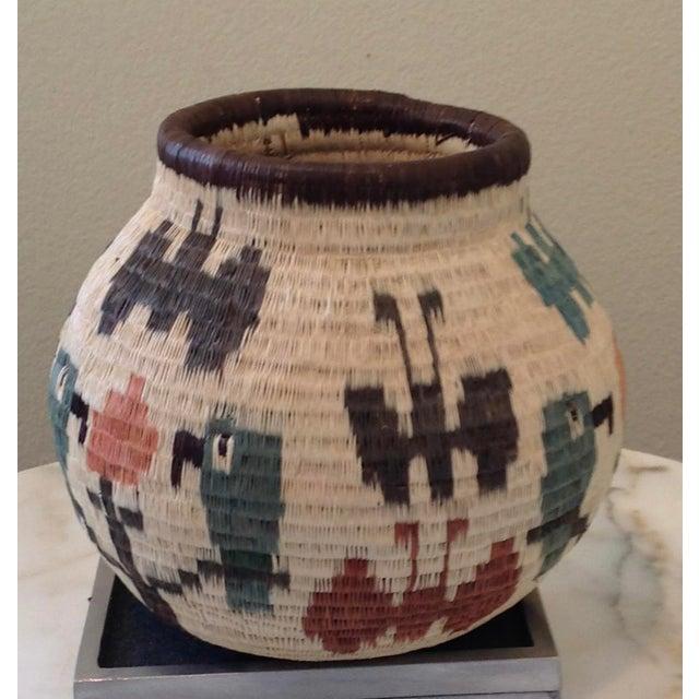 Figurative-Style Woven Wounaan Basket - Image 4 of 7