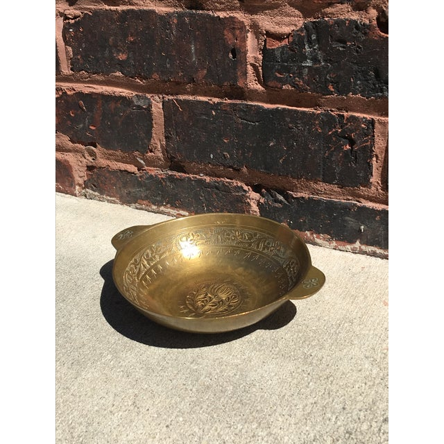 Vintage Chinoiserie Brass Bowl or Catch All - Image 3 of 4