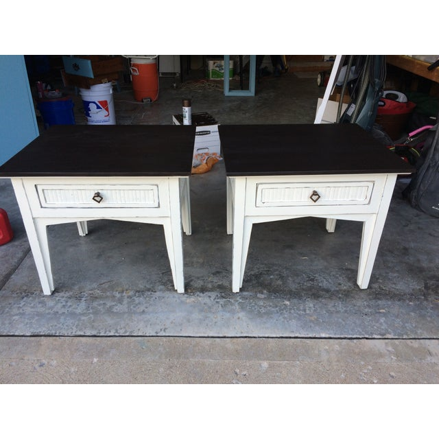 Side Tables with Drawers - Pair - Image 2 of 4