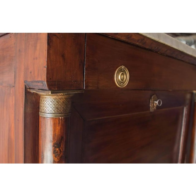 19th Century French Empire Marble Top Secretaire For Sale - Image 5 of 11