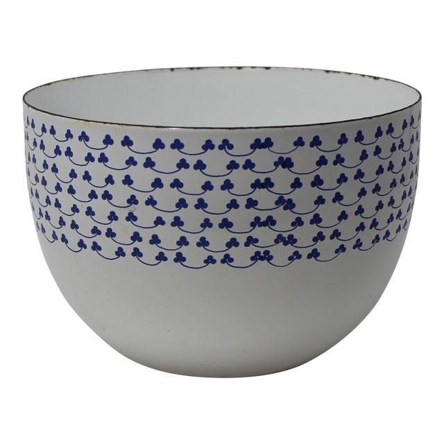 Kaj Franck for Finel Arabia Blue Clover Enamel Bowl - Image 1 of 4