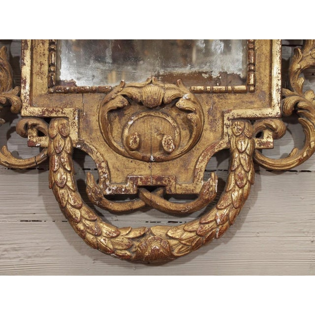 19th Century Italian Carved Giltwood Mirror - Image 4 of 7