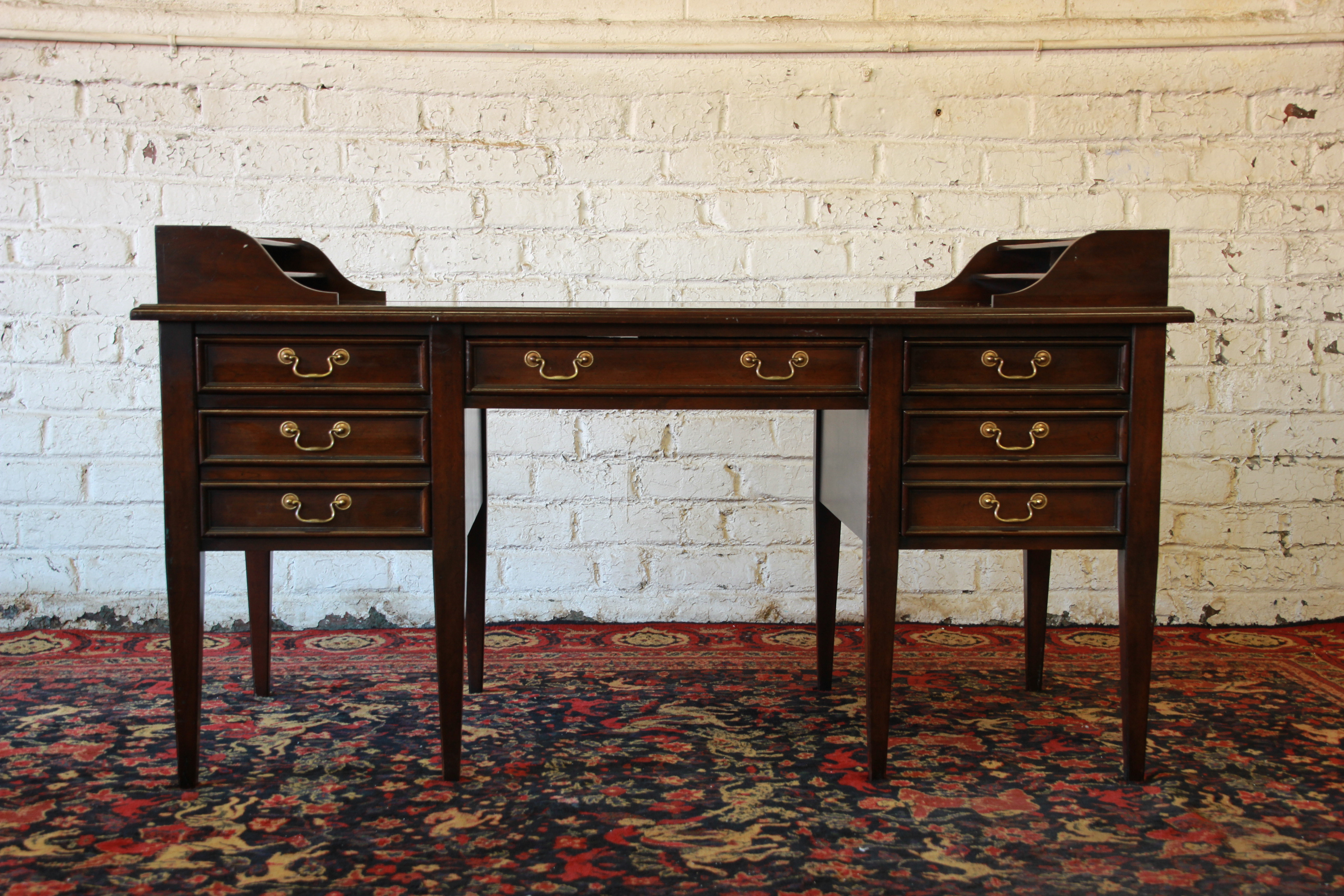 Excellent Mahogany Executive Desk By Sligh Furniture Of Holland, MI. This  Desk Is Made