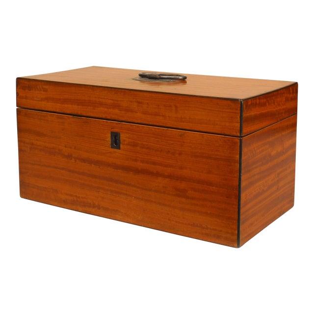 Antique English Georgian Satinwood Tea Box For Sale