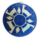 Image of Vintage Tribal Seagrass Coiled Basket For Sale