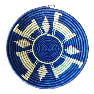Vintage Tribal Seagrass Coiled Basket For Sale