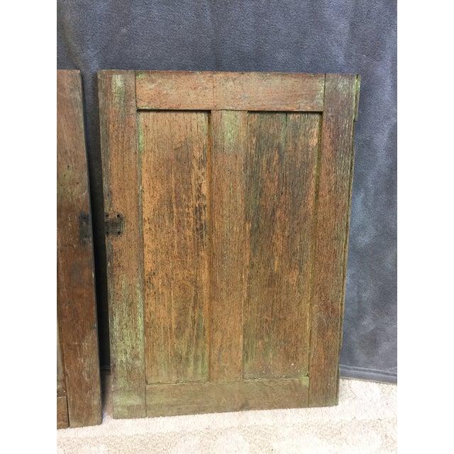 Vintage Rustic Wood Cabinet Doors - A Pair - Image 4 of 11