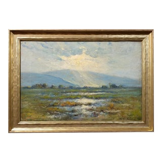 Manuel Valencia -Beautiful California Plein Air Landscape -Oil Painting C.1900s For Sale