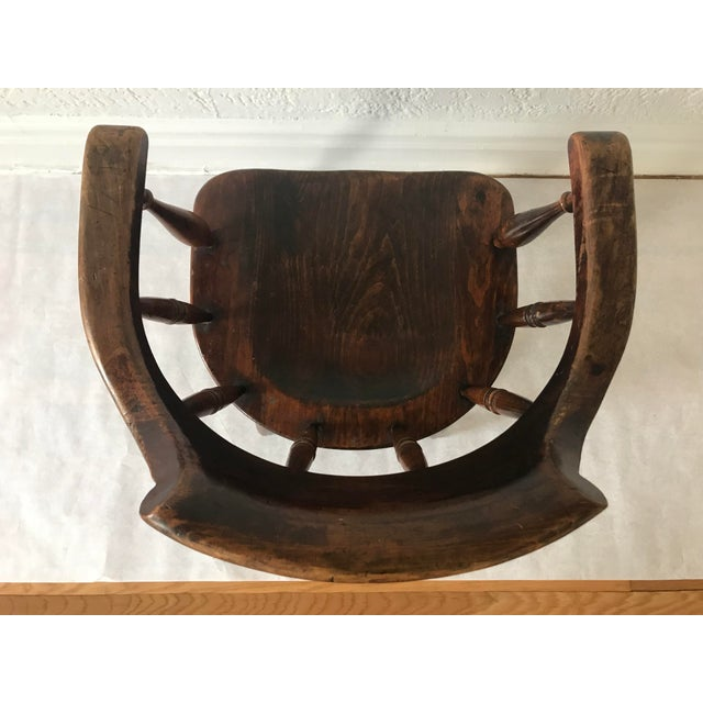 """19th Century Antique """"Captain"""" Arm Chair For Sale In New York - Image 6 of 13"""
