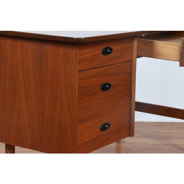 Hooker Mid-Century Walnut & Veneer Desk - Image 9 of 11