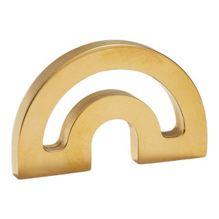 Nest Studio Collection Deco-1.25HC Satin Brass Knob For Sale