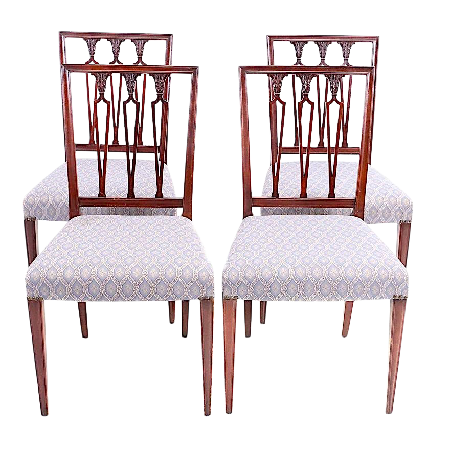 Hepplewhite Neoclassical Dining Chairs   Set Of 4 For Sale