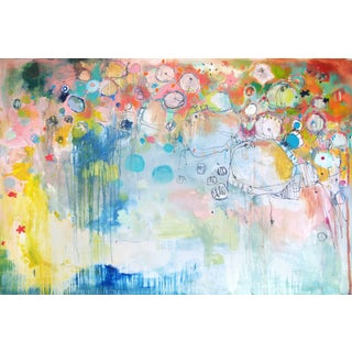 Clara Fialho Everyone Who's Ever Loved You Large Colorful Abstract Painting 2015 For Sale