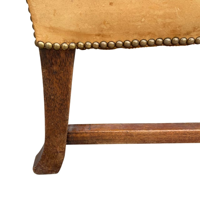 20th Century Vintage English Chippendale Style Wingback Settee For Sale - Image 12 of 13
