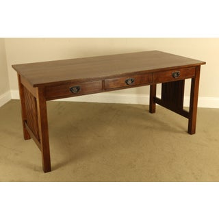 Stickley Mission Collection Oak Spindle Desk Preview