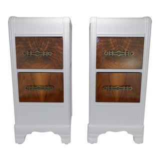 Early 20th Century Antique Art Deco Nightstands - A Pair For Sale