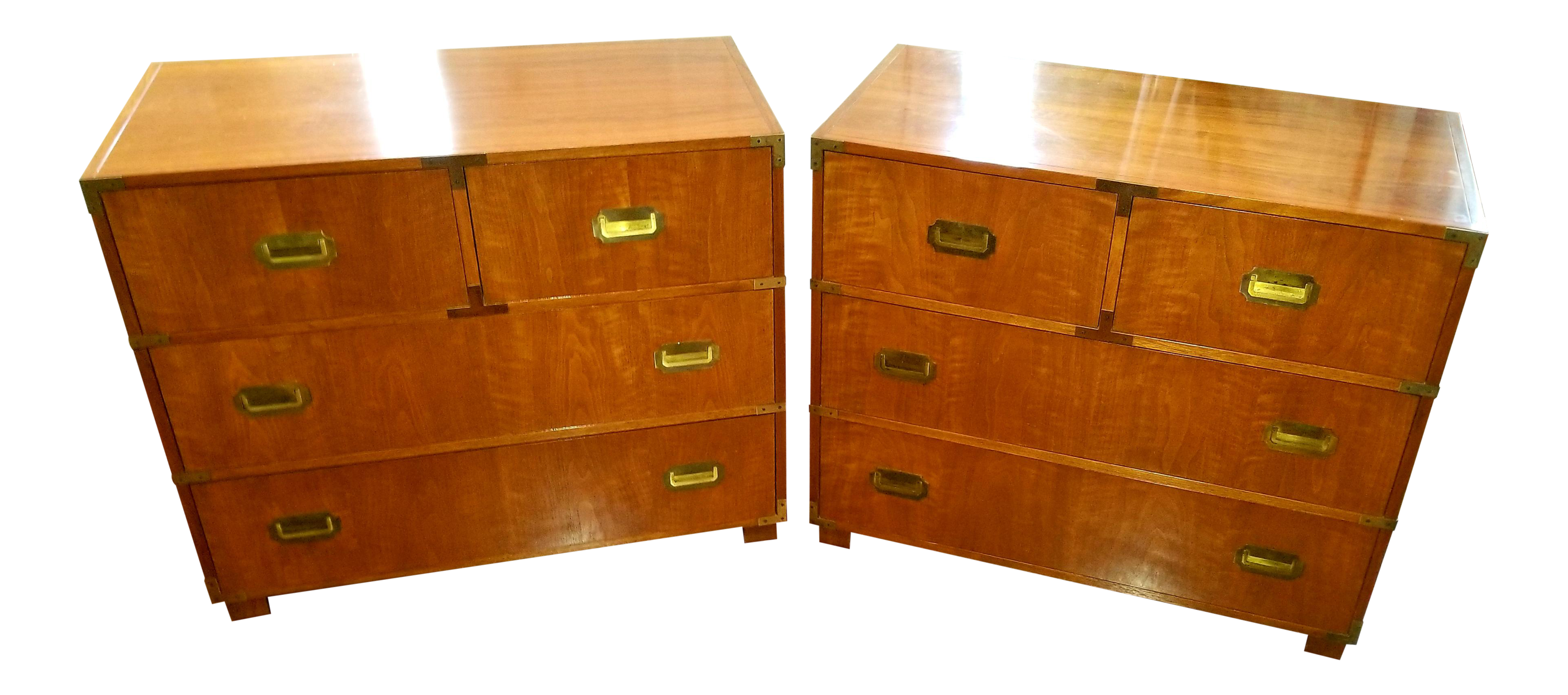 Baker Furniture Campaign Chests   A Pair