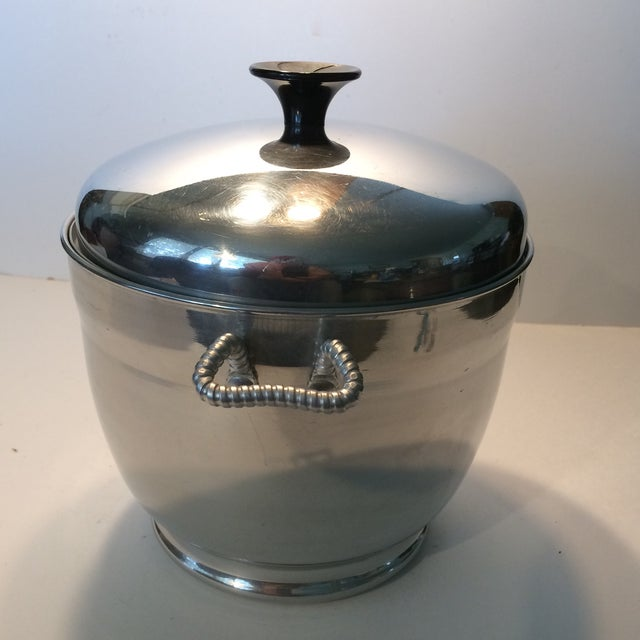 Mid-Century Modern Insulated Ice Bucket For Sale - Image 4 of 11