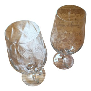 Orrefors Dizzy Diamond Crystal Glasses - A Pair