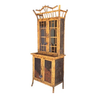 Antique Bamboo Cabinet For Sale