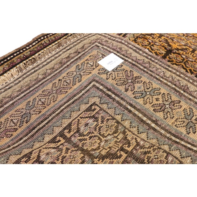 1950s Vintage Shiraz Persian Tribal Rug With Mid-Century Modern Style - 3'6 X 5'4 For Sale - Image 5 of 8