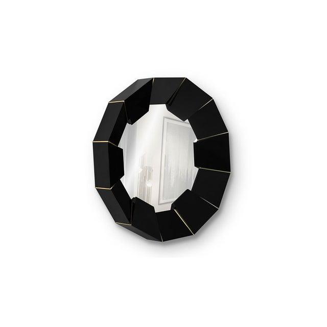 Darian Black Mirror From Covet Paris For Sale - Image 6 of 9