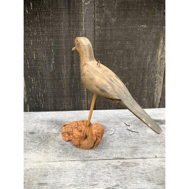 1950s Hand Carved Bird For Sale - Image 5 of 7