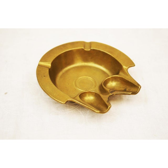 Austrian Art Deco Brass Ashtray, 1930s For Sale - Image 4 of 4