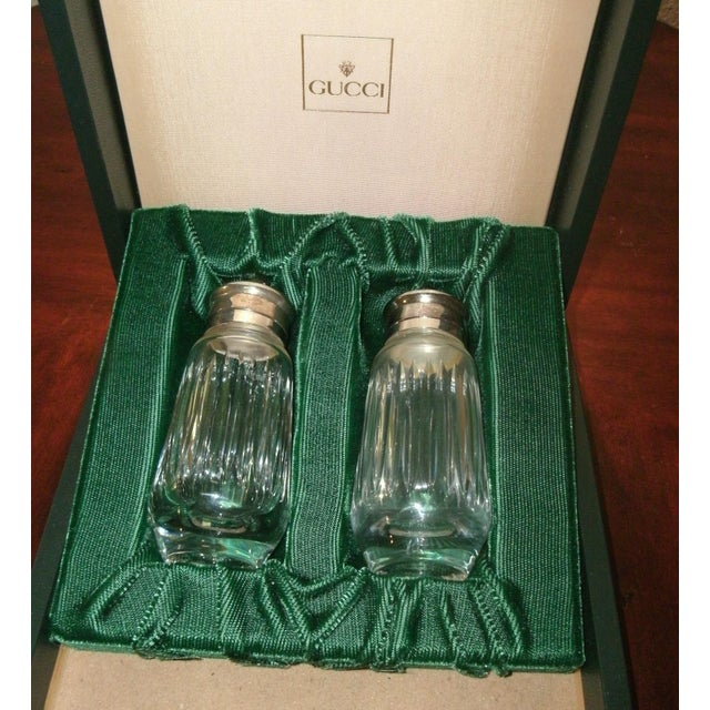 Gucci Salt & Pepper Shakers Set in Formal Presentation Box - a Pair For Sale - Image 11 of 12