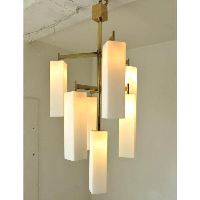 Metal Tiered Palazzo Chandelier by Fabio Ltd (2 Available) For Sale - Image 7 of 9