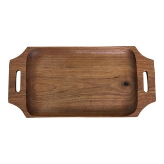 Danish Teak Serving Tray For Sale