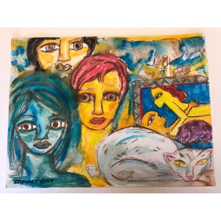 Faces Painting, Original Irmaly Brackin / 2004 For Sale