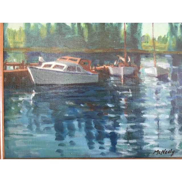 Vintage Oil on Canvas Painting - Napa River For Sale - Image 4 of 8