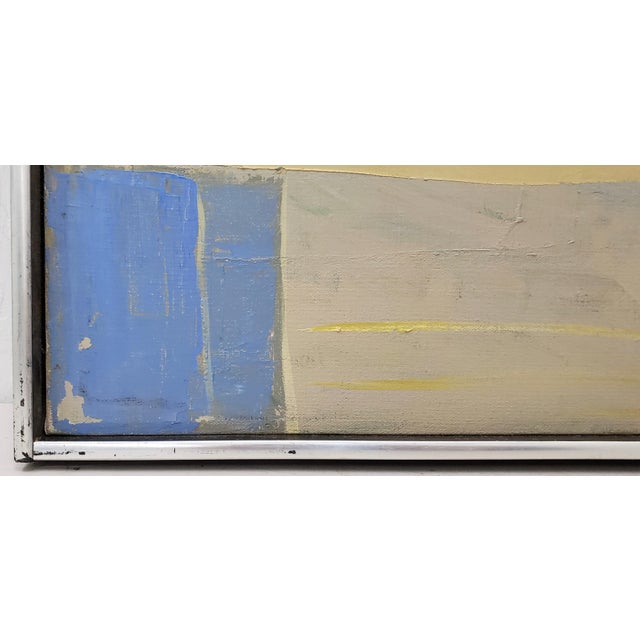 Mid Century Abstract Still Life Oil Painting by Francisco Ferro c.1960 Brilliant abstract oil on canvas. A still life with...