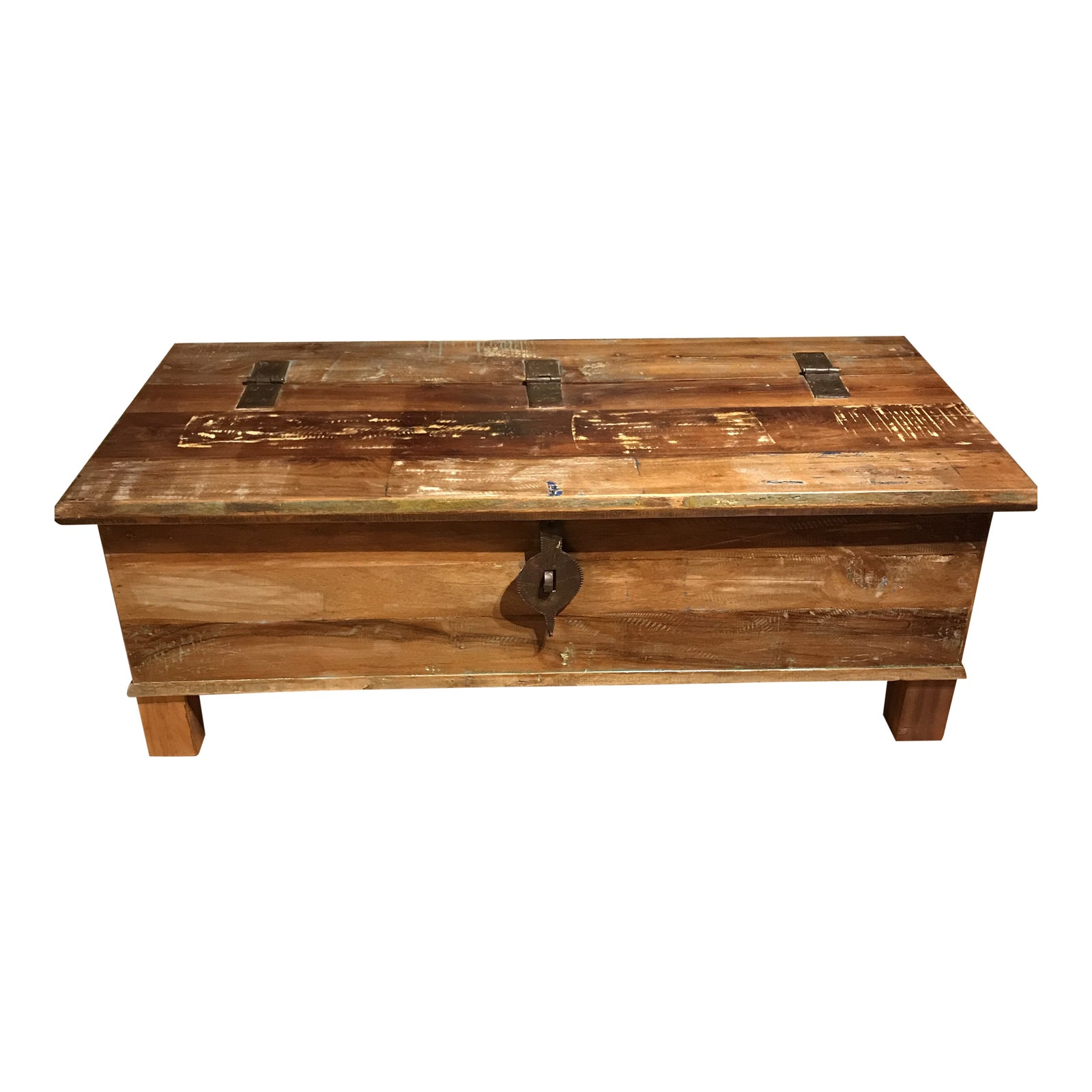 Excellent Rustic Wood Metal Coffee Table With Storage Machost Co Dining Chair Design Ideas Machostcouk