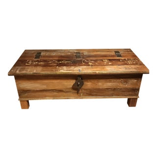 Rustic Wood/Metal Coffee Table With Storage For Sale