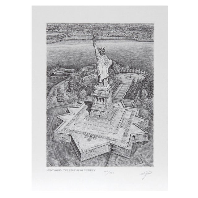 Walter Tjart - New York The Statue of Liberty For Sale
