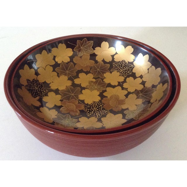 Japanese Lacquered Soup Bowl For Sale - Image 4 of 4