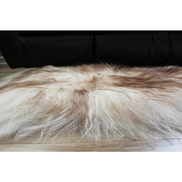 Animal Skin Modern Genuine Icelandic Sheepskin Shade of Brown Rug Throw- 2′ × 3′ For Sale - Image 7 of 9