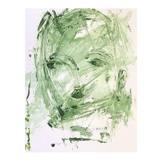 Palette Knife Face by Leslie Weaver For Sale