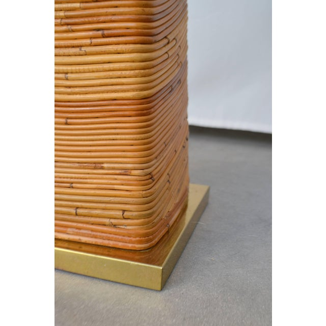 Midcentury Cut Reed Floor Lamp For Sale - Image 9 of 11