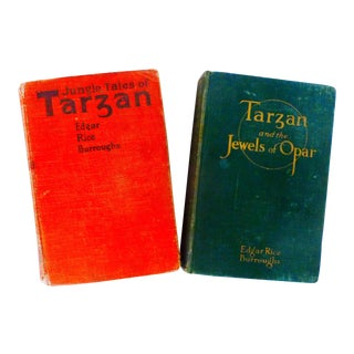 "Vintage ""Tarzan and the Jewels of Opar"" Books - a Pair For Sale"