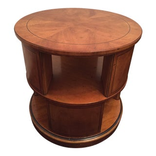 1960's Baker Palladian Inspired Revolving Book Case Night Stand or Side Table For Sale