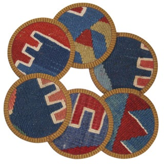 Rug & Relic Hatipemin Kilim Coasters - Set of 6 For Sale