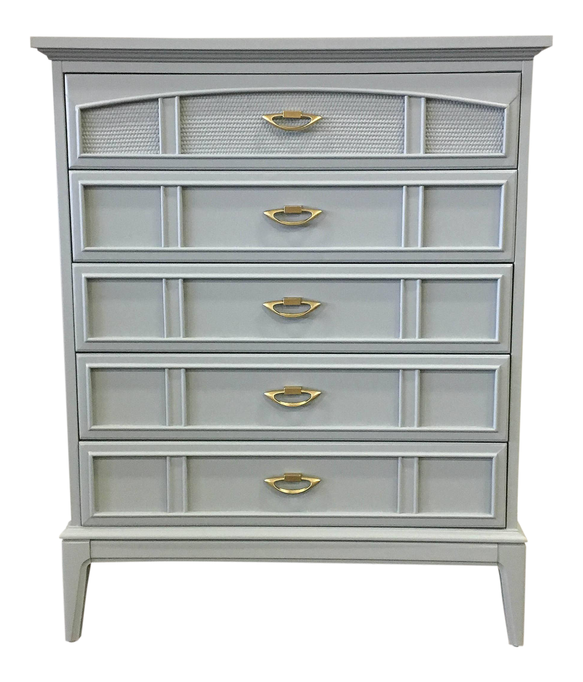 Dixie Furniture Grey Lacquer Chest