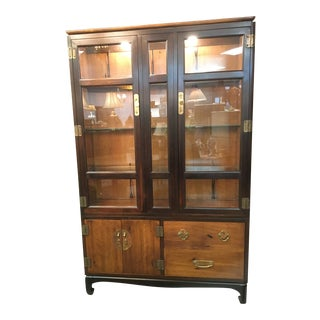 1970s Mid-Century Modern Lane China Cabinet For Sale